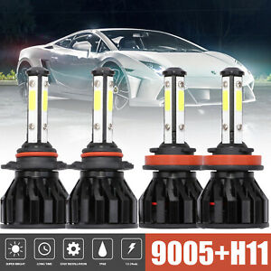 9005 h11 4pcs Led Headlight Conversion Kit Light Bulbs 240w 28800lm 6500k White