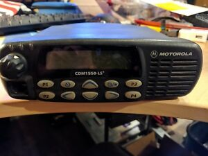 Motorola Cdm1550ls Two Way Radio Used Comes With Mic And Brackets
