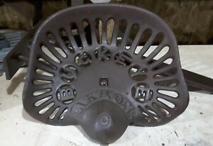 Old Vtg Cast Iron Buckeye Akron Aultman Miller Co Tractor Seat 2 Horse Drawn