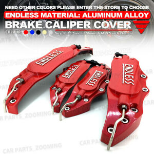Red Aluminum Alloy 3d Endless Style Universal Brake Caliper Cover 4 Pcs L s Lw03
