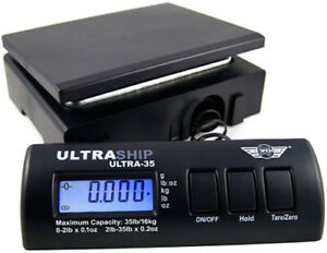 Myweigh Ultraship35 Package Scale Up To 35 3lbs Ultra Ultraship 35 Letter Black