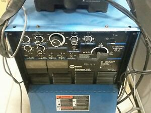 Miller Synchrowave 250 Tig Welder W Cool Mate 3 Foot Control Cables