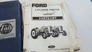 Ford 4 cylinder Tractors 1953 1964 Parts Catalog Pa 8800c vintage Free Ship