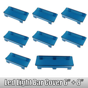 7x 6 1x 8 Snap On Blue Lens Cover For 50 52 300w Led Work Light Bar 4wd