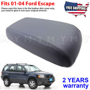 Fits 2001 2004 Ford Escape Leather Center Console Lid Armrest Cover Skin Gray