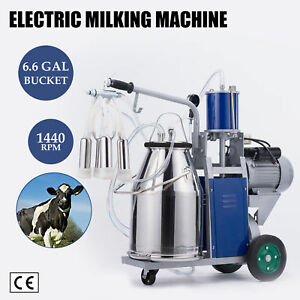 Dairy Cow Milking Machine Electric Milker 304 Stainless Steel New
