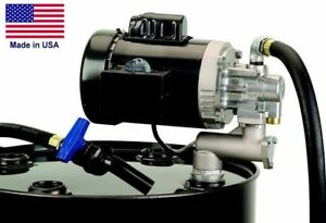 Oil Transfer Pump 8 Gpm 115 Volt 1 Hp Drum Barrel Mounted Self priming