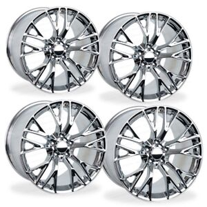 18x8 5 19x10 Chrome Corvette C7 Z06 Style Wheels Fits Chevrolet Rims Staggered