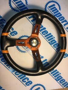 Momo Drifting Steering Wheel Black Leather Deep 330mm