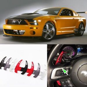 2pcs Steering Wheel Dsg Paddle Extension Shifters Sticker Cover For Ford Mustang