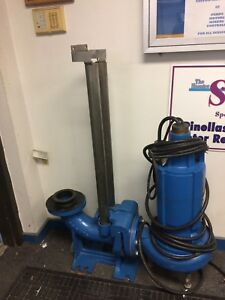 Goulds 4 Submersible Sewage Pump 5hp 1750rpm Reliance Motor And 4 base Elbow