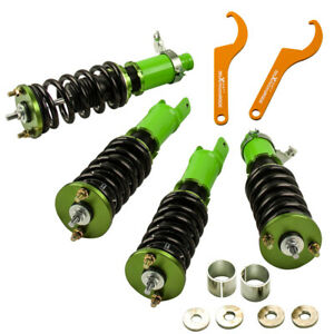 For Honda Acura Civic 92 95 Integra 94 01 Adjustable Coilovers Coil Shocks Green
