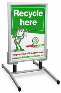 Displays2go Wind Sign Stand Is Double Sided With Snap Frames For Accommodatin