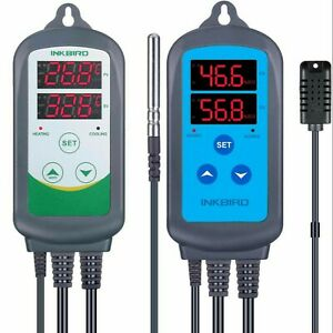 Eu Plug Digital Temperature Control Humidity Controller Hygrometer Thermostat