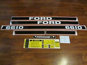 Ford Tractor Decal Set 6610 With Caution And Shifter Stickers 1115 1560
