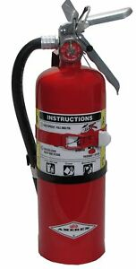 Amerex B402t 5lb Abc Dry Chemical Class A B C Fire Extinguisher With Vehicl