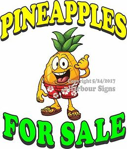 Pineapples For Sale Decal choose Your Size Market Food Truck Sign Concession