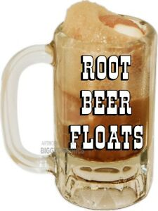 Root Beer Float Ice Cream Mug Vinyl Decal choose A Size Stands Boardwalk Shops