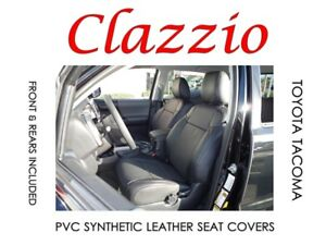 Clazzio Pvc Synthetic Leather Seat Covers For 2016 2019 Toyota Tacoma Double Cab