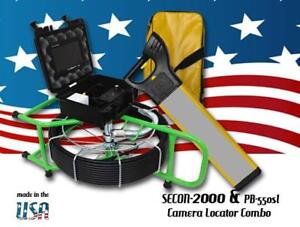 130 Sewer Video Pipe Drain Cleaner Inspection Camera 512hz Sonde Locator Combo