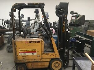 Hyster Forklift E30bs Electric 36 Volt
