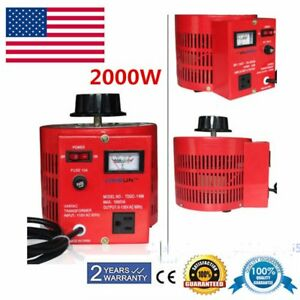 20amp 110v Variac Variable Ac Output Auto Transformer Voltage Regulator 0 130v