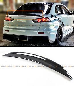For 2008 17 Mitsubishi Lancer Evo X 10 Duckbill Highkick Gloss Blk Trunk Spoiler