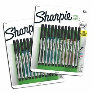 Sanford Sharpie Fine Point Pen Stylo Assorted Colors 24 pack