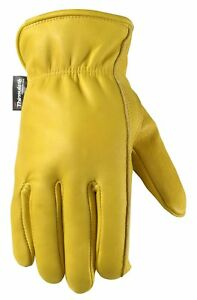 Men s Winter Leather Work Gloves 100 gram Thinsulate Cowhide Lined Leather