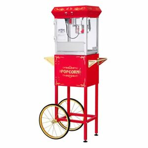 Great Northern Popcorn Gnp 400 All Star Popcorn Machine With Cart Red