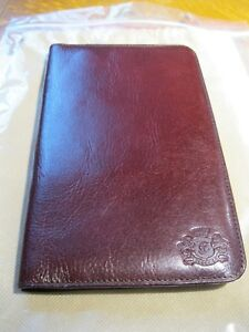 New Wittchen Italian Collection Brown Leather Business Card Holder