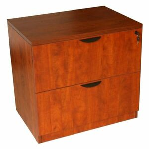 Boss N112 c 2 drawer Lateral File Cherry