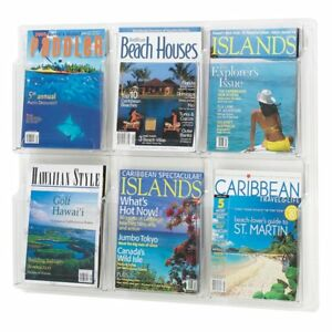 Safco 5607cl Reveal 6 Magazine Display Clear