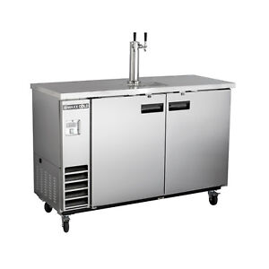 Maxx Cold Commercial Nsf Double Kegerator Beer Cooler Dispenser Stainless Steel