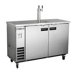 Maxx Cold 61 Commercial Kegerator Beer Cooler Dispenser Stainless Steel 1 Tap
