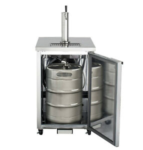 Maxx Cold 73 1 Commercial Kegerator Beer Cooler Dispenser Stainless Steel 2 Tap