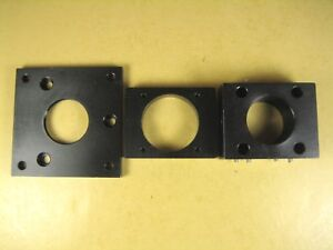 Lot Of 3 Optical Mounting Plates Aluminum