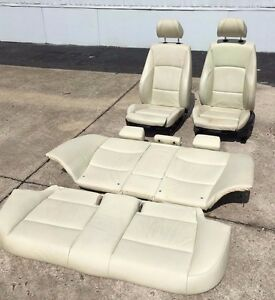 06 08 Oem Bmw 3 E90 328 335 Sedan Sport Seats Interior Front Seat Black White
