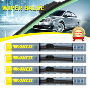4 Pcs Anco Contour Wiper Blade For Fox front rear 16 Length c 16 ub c 16 ub