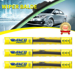 3 Pcs Anco Profile Wiper Blade For Audi fox front rear 16 Length a 16 m a 16 m