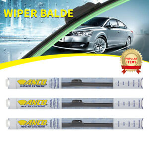 3pcs Anco Winter Extreme Wiper Blade For Fox front rear 16 length wx 16 ub
