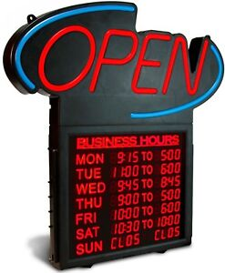 Business Hours 20 Open Sign
