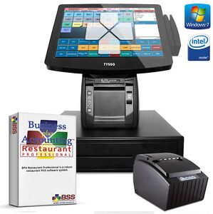 One Station All in one Touch Restaurant Point of sale Pc System Aio Pos