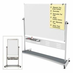 Mastervision Magnetic Reversible Mobile Dry Erase Easel White