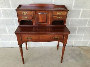 Statton Centennial Cherry 5 Drawer Flip Top Writing Desk Shipping Available