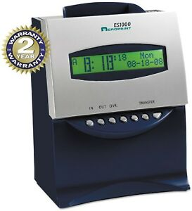 Acroprint Es1000 Totalizing Digital Automatic Payroll Recorder time Clock And