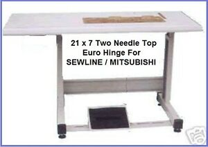 New Two needle 21x7 Cut out Table Set For Most 2ndl Industrial Sewing Machine