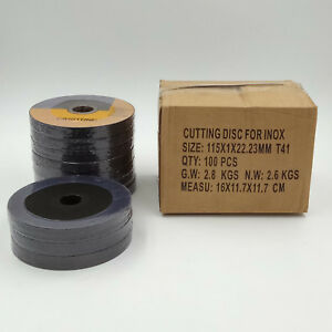 100 Pack 4 1 2 Cut off Wheels For All Ferrous Metals Stainless Steel