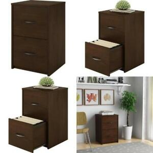 2 Drawer File Cabinet Resort Cherry Filing Home Office Storage Furniture Wood