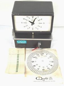 Vintage Amano 5409 Time Recorder Time Punch Clock With Punch Cards